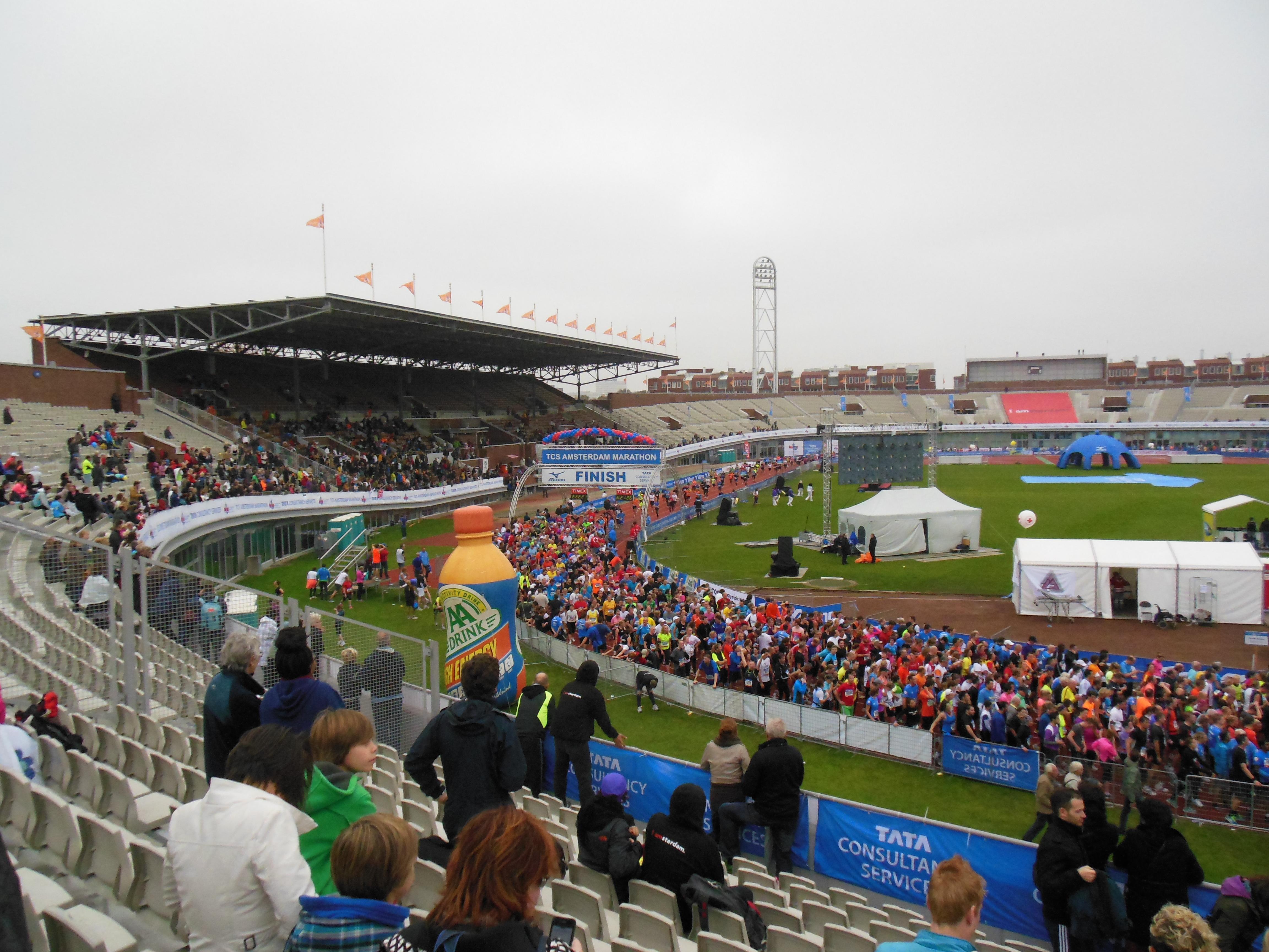 Finish at Olympic stadium